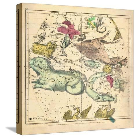 1835, Constellations October - December--Stretched Canvas Print
