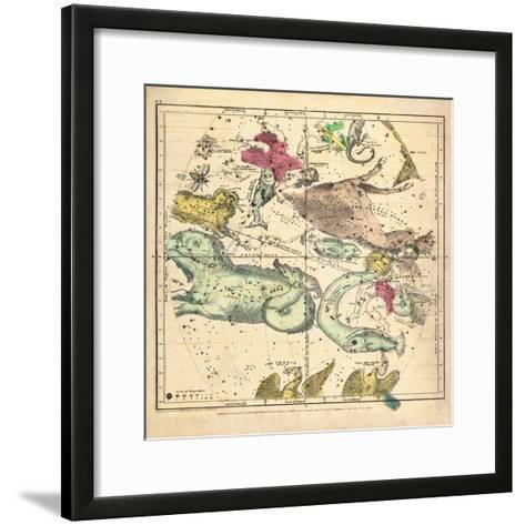1835, Constellations October - December--Framed Art Print
