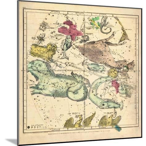1835, Constellations October - December--Mounted Giclee Print