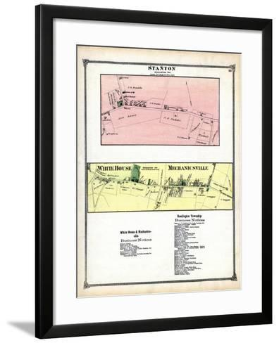 1873, Stanton, White House, Mechanicsville, New Jersey, United States--Framed Art Print