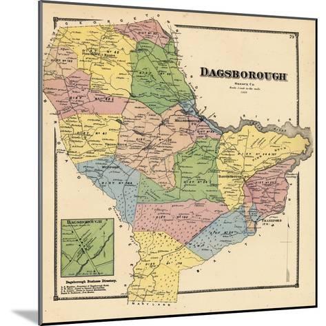 1868, Dagborough, Dagborough Town, Delaware, United States--Mounted Giclee Print