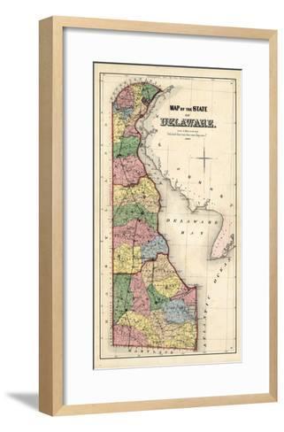1868, Delaware State Map, Delaware, United States--Framed Art Print