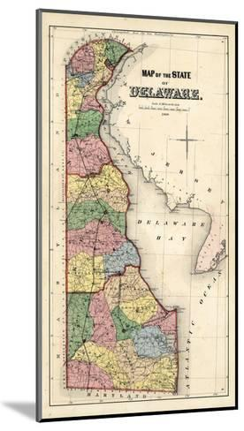 1868, Delaware State Map, Delaware, United States--Mounted Giclee Print