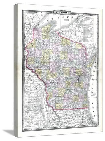 1899, State Map, Wisconsin, United States--Stretched Canvas Print