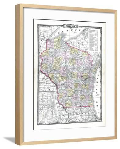 1899, State Map, Wisconsin, United States--Framed Art Print