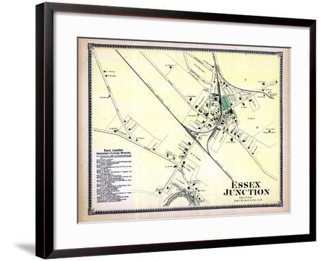 1869, Essex Junction Town, Vermont, United States--Framed Art Print