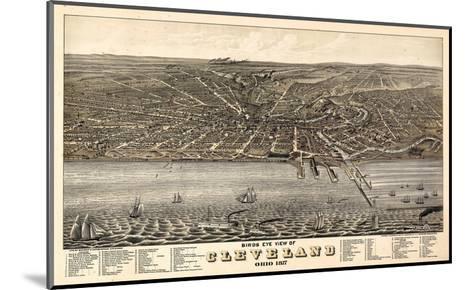 1877, Cleveland Bird's Eye View, Ohio, United States--Mounted Giclee Print