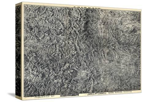1894, Colorado State Map in Relief, Colorado, United States--Stretched Canvas Print