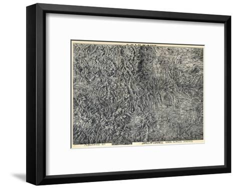 1894, Colorado State Map in Relief, Colorado, United States--Framed Art Print