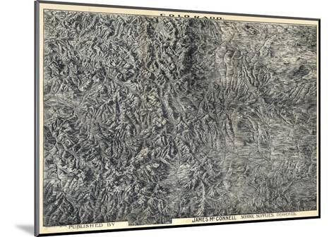 1894, Colorado State Map in Relief, Colorado, United States--Mounted Giclee Print