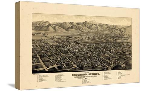 1882, Colorado Springs 1882c Bird's Eye View, Colorado, United States--Stretched Canvas Print