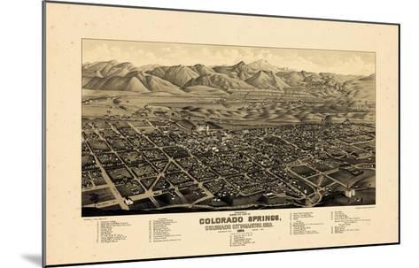 1882, Colorado Springs 1882c Bird's Eye View, Colorado, United States--Mounted Giclee Print