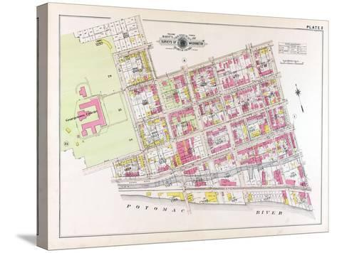 1915, Plate 2, Georgetown College, District of Columbia, United States--Stretched Canvas Print