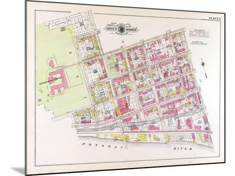 1915, Plate 2, Georgetown College, District of Columbia, United States--Mounted Giclee Print