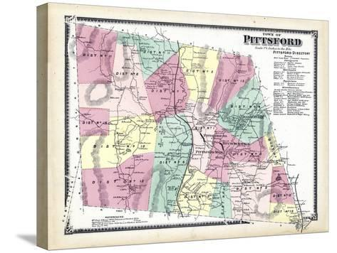 1869, Pittsford Town, Vermont, United States--Stretched Canvas Print