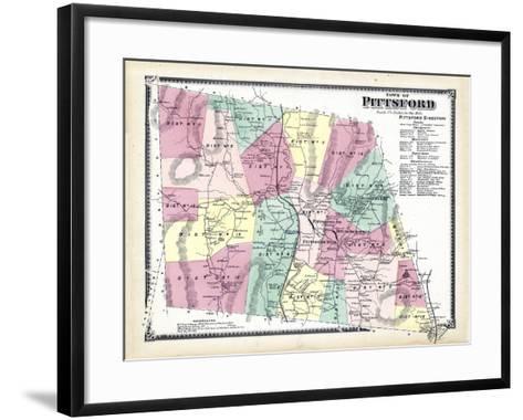 1869, Pittsford Town, Vermont, United States--Framed Art Print