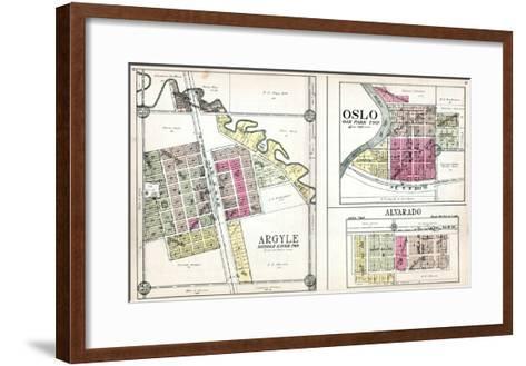 1928, Argyle, Oslo, Alvarado, Minnesota, United States--Framed Art Print