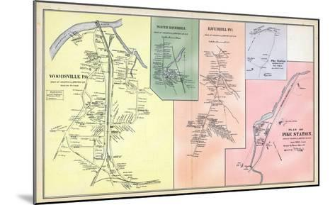 1892, Woodsville, Haverhill North, Haverhill Town, Pike Station, Pike Station Town, New Hampshire--Mounted Giclee Print