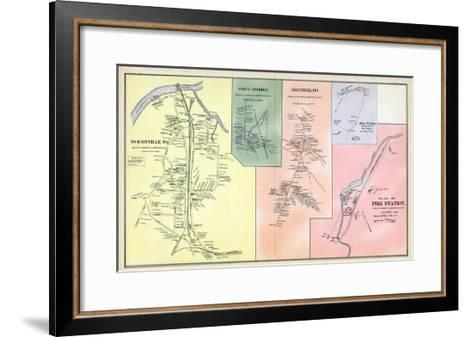 1892, Woodsville, Haverhill North, Haverhill Town, Pike Station, Pike Station Town, New Hampshire--Framed Art Print
