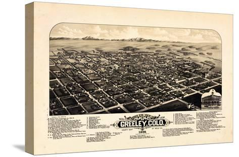 1882, Greeley Bird's Eye View, Colorado, United States--Stretched Canvas Print