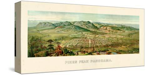 1890, Pikes Peak Panoramic View, Colorado, United States--Stretched Canvas Print