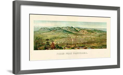 1890, Pikes Peak Panoramic View, Colorado, United States--Framed Art Print