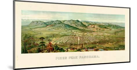 1890, Pikes Peak Panoramic View, Colorado, United States--Mounted Giclee Print