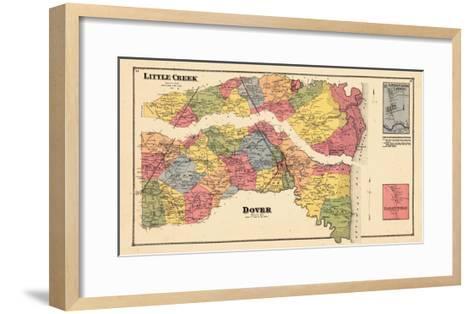 1868, Little Creek, Dover, Little Creek Landing, Delaware, United States--Framed Art Print