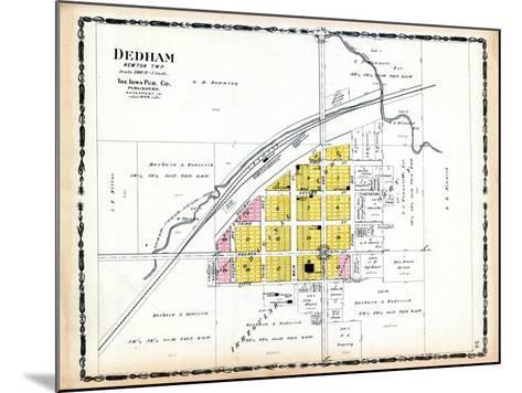 1906, Dedham, Iowa, United States--Mounted Giclee Print