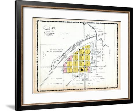 1906, Dedham, Iowa, United States--Framed Art Print