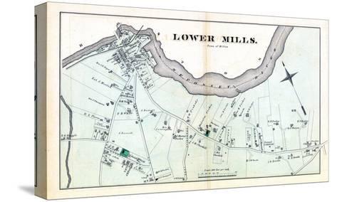 1876, Lower Mills - Milton, Massachusetts, United States--Stretched Canvas Print
