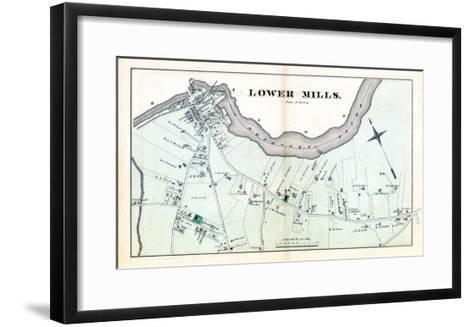 1876, Lower Mills - Milton, Massachusetts, United States--Framed Art Print