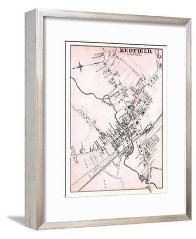 1876, Medfield - Town, Massachusetts, United States--Framed Art Print
