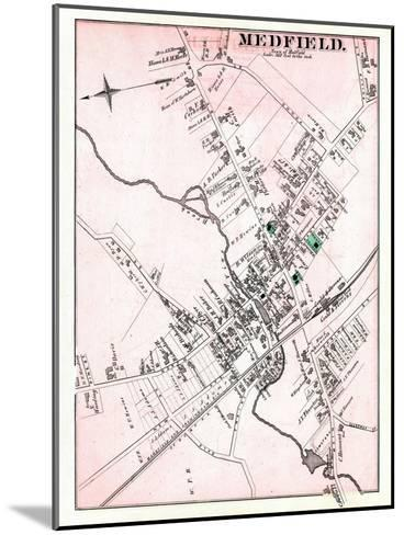 1876, Medfield - Town, Massachusetts, United States--Mounted Giclee Print