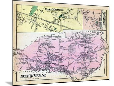 1876, Medway, East Medway, Medway East, Rockville, Massachusetts, United States--Mounted Giclee Print