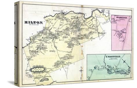 1876, Milton, Adamsville, Unionville, Massachusetts, United States--Stretched Canvas Print