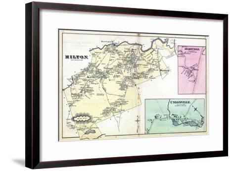 1876, Milton, Adamsville, Unionville, Massachusetts, United States--Framed Art Print
