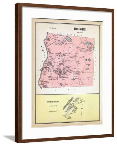 1892, Orford, Orford Town, New Hampshire, United States--Framed Art Print