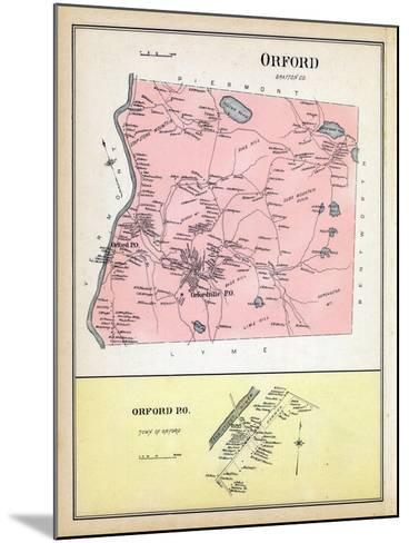 1892, Orford, Orford Town, New Hampshire, United States--Mounted Giclee Print