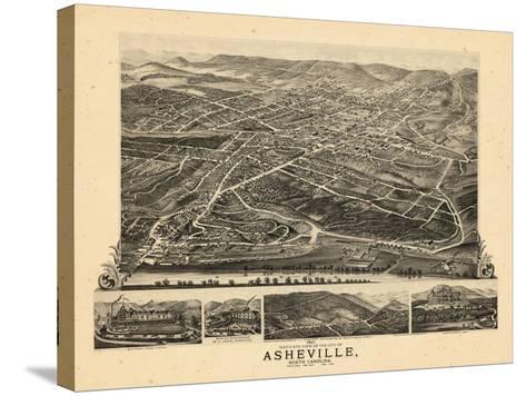 1891, Asheville Bird's Eye View, North Carolina, United States--Stretched Canvas Print