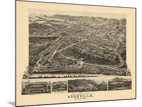 1891, Asheville Bird's Eye View, North Carolina, United States--Mounted Giclee Print