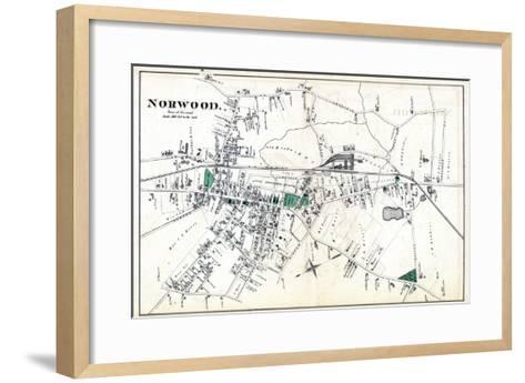 1876, Norwood Town, Massachusetts, United States--Framed Art Print