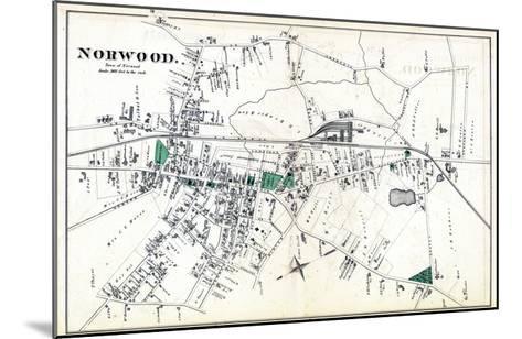 1876, Norwood Town, Massachusetts, United States--Mounted Giclee Print
