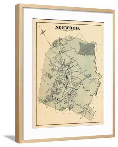 1876, Norwood, Massachusetts, United States--Framed Art Print
