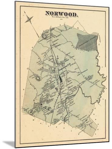 1876, Norwood, Massachusetts, United States--Mounted Giclee Print