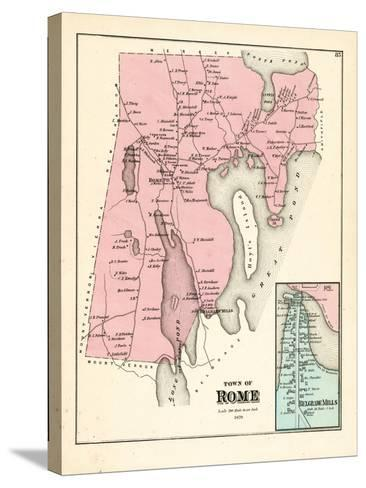 1879, Rome, Belgrade Mills, Maine, United States--Stretched Canvas Print