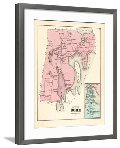 1879, Rome, Belgrade Mills, Maine, United States--Framed Art Print