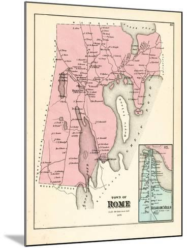 1879, Rome, Belgrade Mills, Maine, United States--Mounted Giclee Print