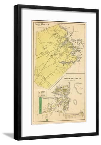 1892, Portsmouth, New Hampshire, United States--Framed Art Print