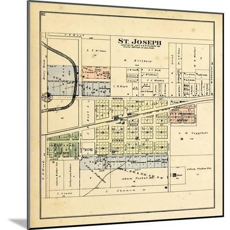 1893, St. Joseph, Illinois, United States--Mounted Giclee Print